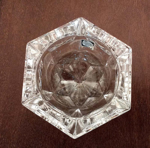 porta velas castiçal de cristal holandês lapidado