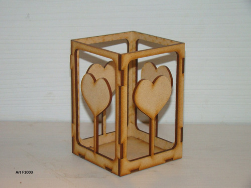 porta velas lapices fibrofacil mdf souvenir centro de mesa
