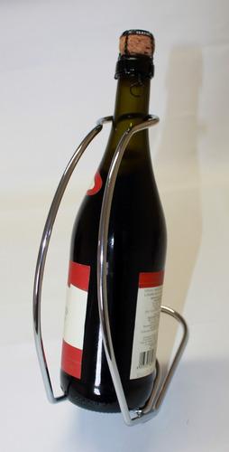 porta vinho em metal cromado estilo alça