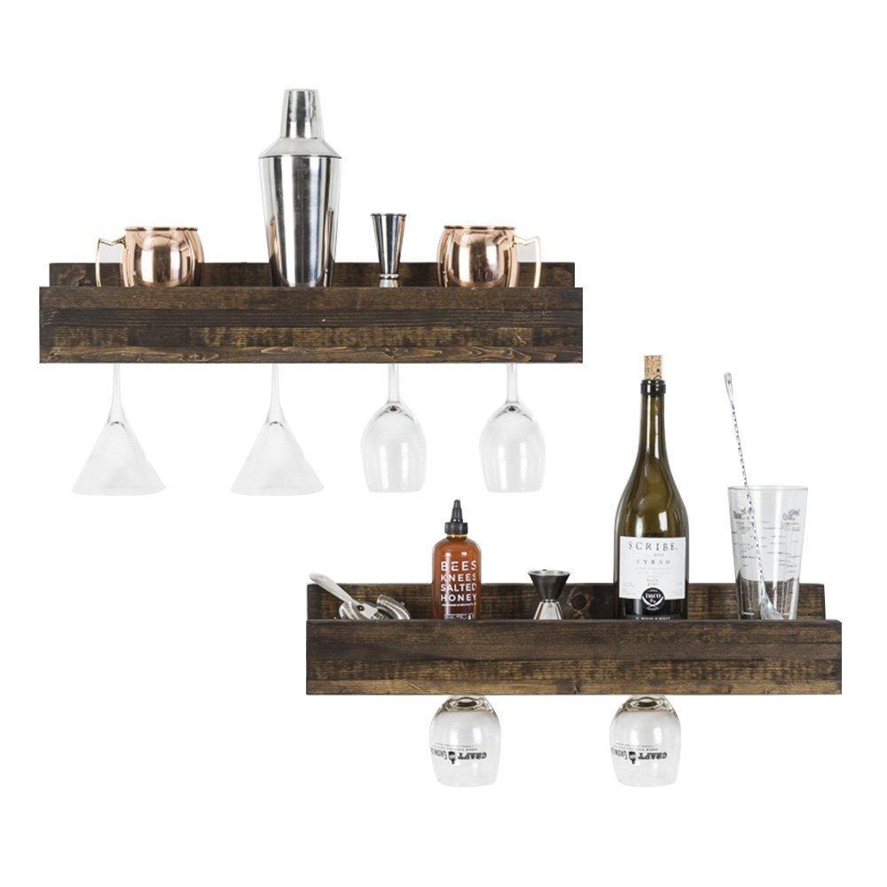 Porta vinos y copas botellero de madera con repisas 2pzas 1 en mercado libre - Botelleros de madera para vino ...