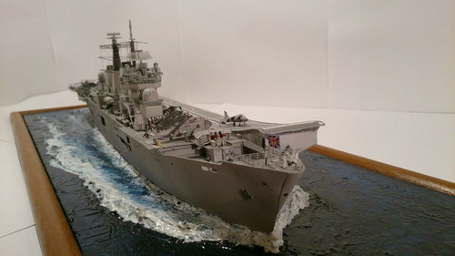 portaaviones invencible - modelo de papel 1/400