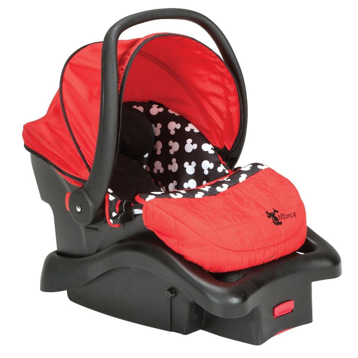 Portabebe mickey mouse base para auto bebe sillita carro for Coche con silla de auto