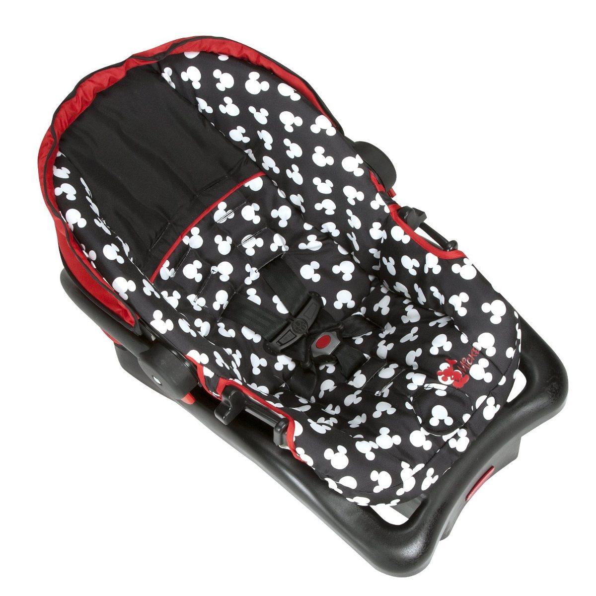Portabebe Mickey Mouse Base Para Auto Bebe Sillita Carro
