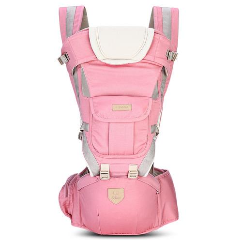 portabebé mochila bethbear 0-36 meses ergonómica 3 en 1 rosa