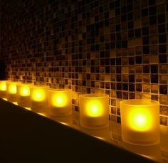 portable candles lights philips led set 2 velas