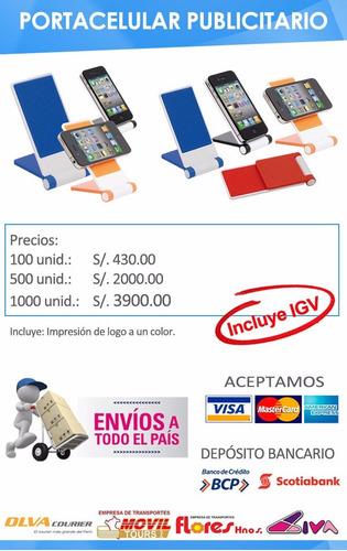 portacelulares publicitarios con logo merchandising con igv