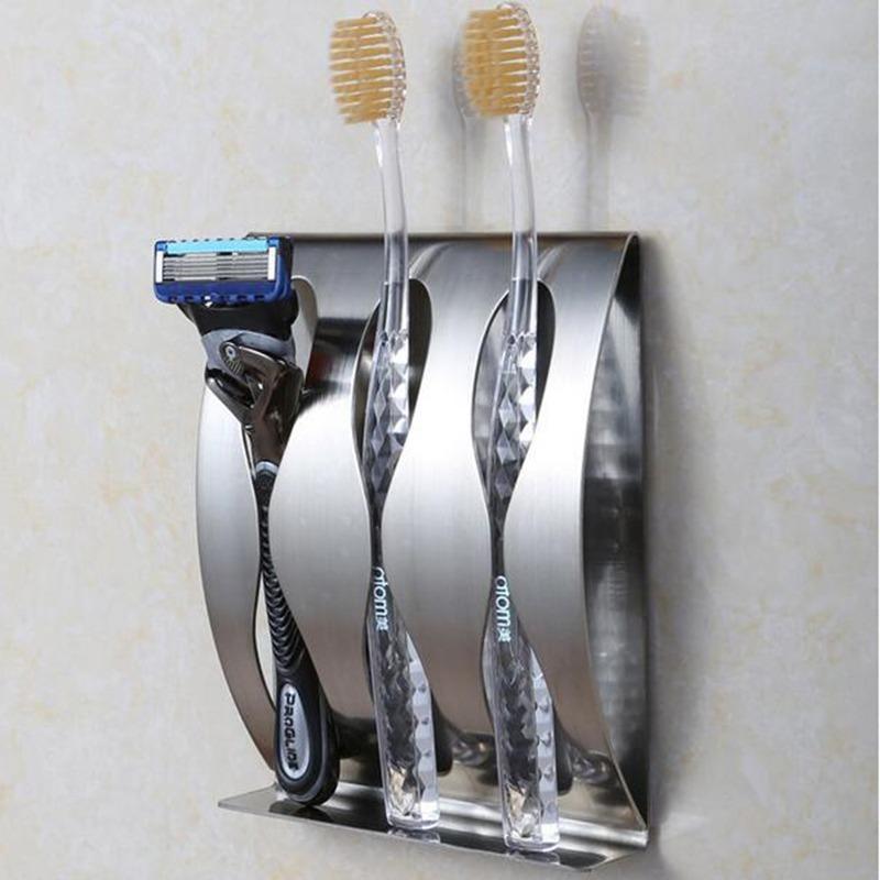 portacepillos dentales 3 espacios baño elegante acero inox. Cargando zoom. 5670cf29046f