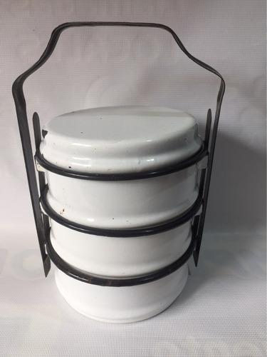 portacomidas antiguo porcelanizado usado retro decoracion