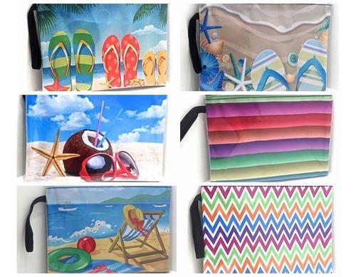 portacosmetico monedero cartuchera diseño y estilo playa