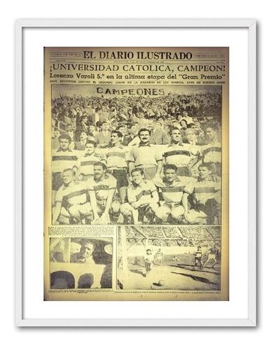 portada enmarcada u. católica 1949 30x40 cms