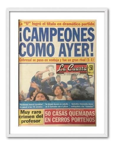 portada enmarcada u. de chile la cuarta 1994 30x40 cms
