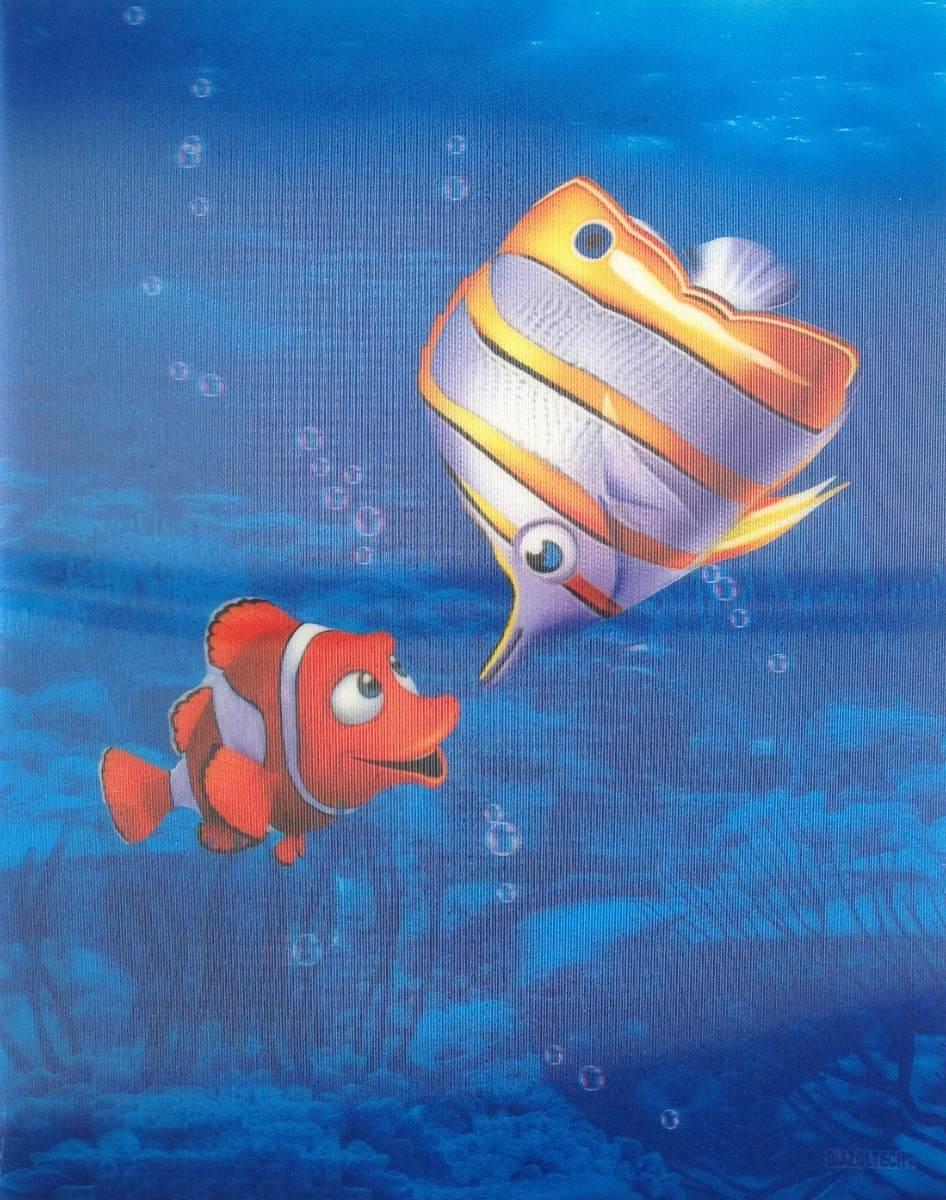 Portada Poster 3d Peces Burbujas En Movimiento 28x22cm