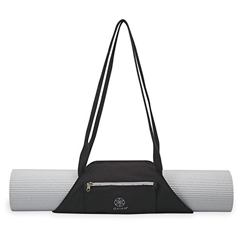 portador de la estera yoga gaiam on the go, granite storm