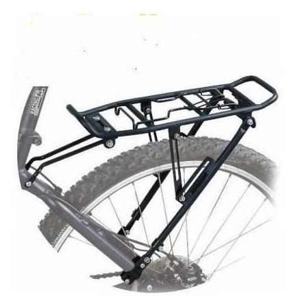 portaequipaje bicicleta con disco aluminio a la vaina - racer bikes