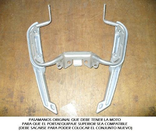 portaequipaje + soporte alforjas c/base motomel 150 skua