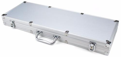 portafolio de poker de aluminio para 500 fichas ( maletín )