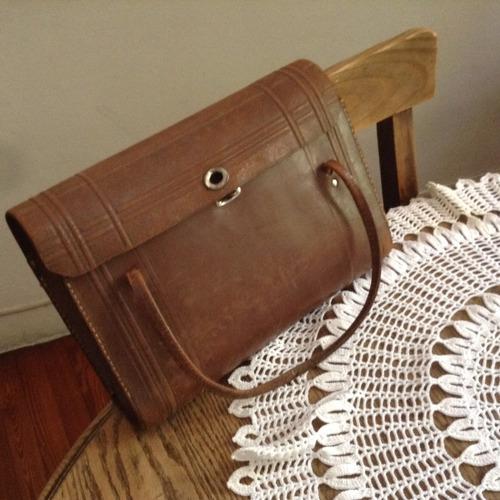 portafolios antiguo de cuero
