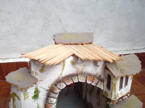portal  accesorio para pesebre o nacimiento de navidad