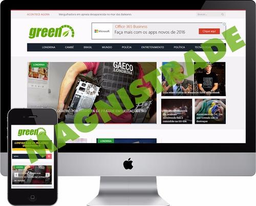 portal de notícias script site php wordpress responsivo adm