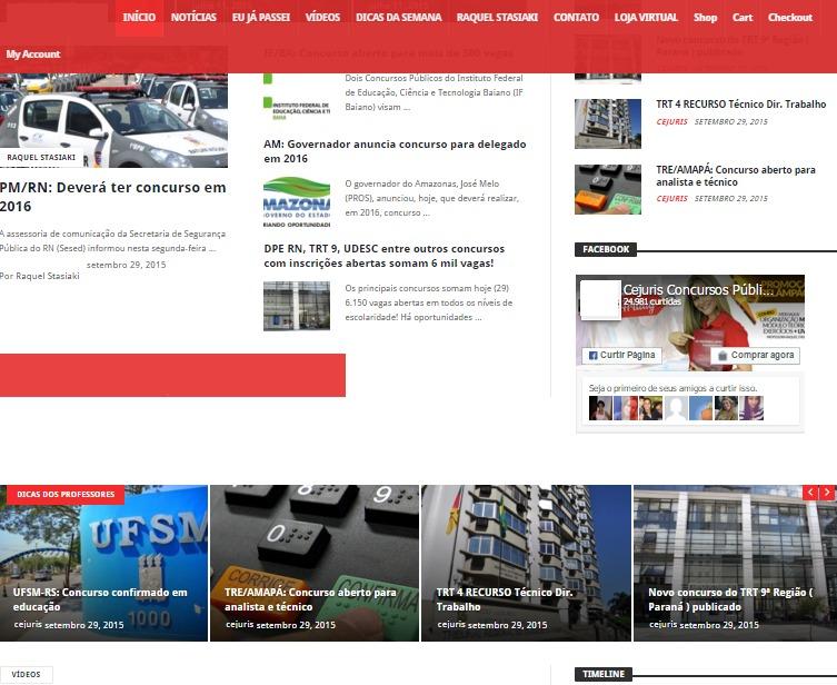 Portal De Notícias Wordpress Super Tema Pt - R$ 70,00 em Mercado Livre