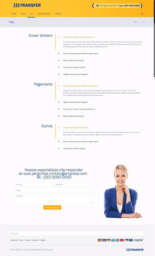 portal para empresas de credito, emprestimo, cambio etc