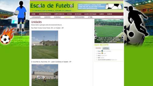 c005bc4d4e Portal   Site De Escola De Futebol Em Php E Mysql - V34 - R  65