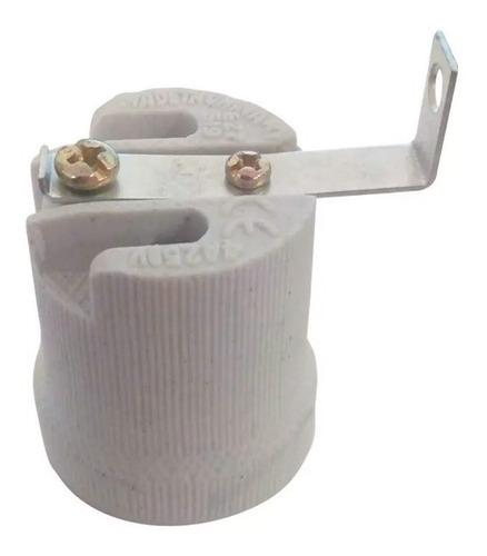 portalámpara cerámica escuadra e27 rosca comun lámpara