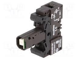 portalámpara c/led integrado, 230vca, verde 3sb3 400 1rc