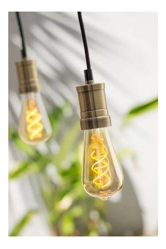 portalampara con lampara filamento y cable textil  floron