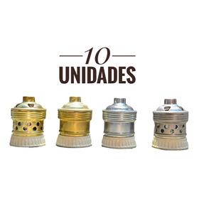 Portalamparas Retro Vintage Bronce Ceramica E27x 10 Unidades
