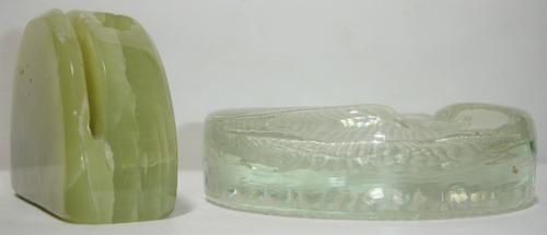 portalapices tarjetero marmol onix + cenicero de vidrio