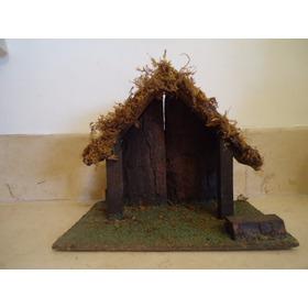 Portal/casa Para Pesebre Navidad