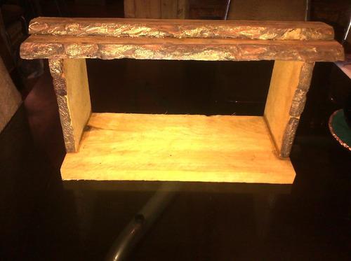 portales pesebres para nacimientos o figuras de 15 a 18 cm