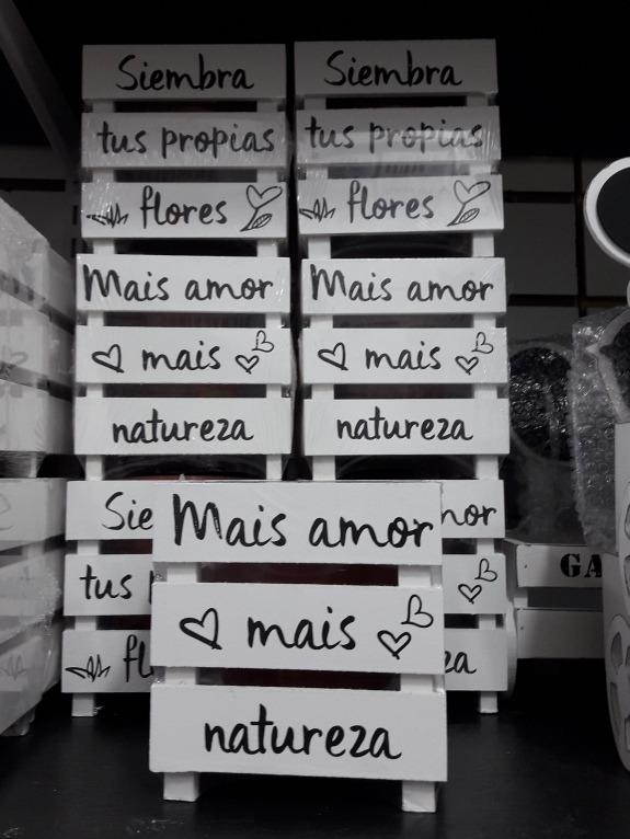 Portamaceta De Madera Con Frases