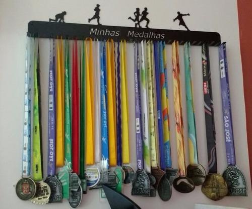 portamedalhas corrida até 90 medalhas 30 ganchos pm30