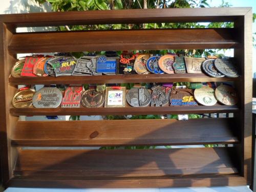 portamedalhas madeira frete grátis tabaco até 100 med