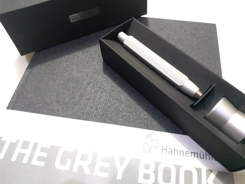 portamina worther compact 5.6 prata + bl alemao grey book a4