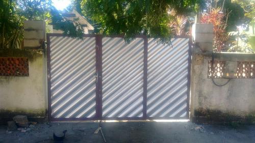 portao búzios ferro chapa 22 galvanizado branco
