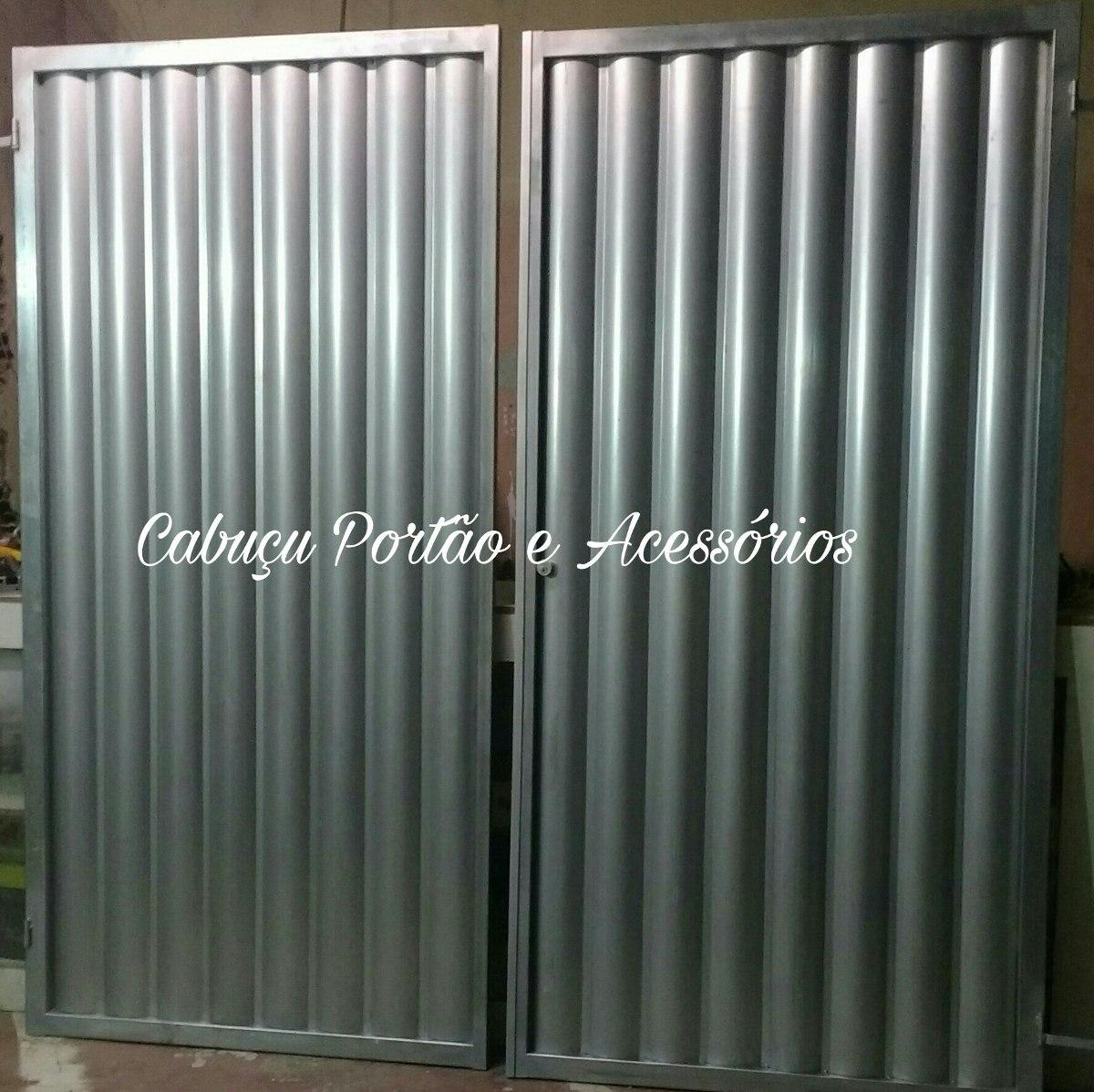 Portao De Garagem Galvanizado 2 40x2 06m R 950 00 Em