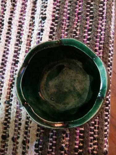 portaobjetos pétalos verde