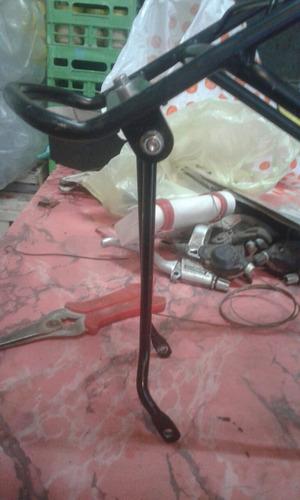 portapaquetes de aluminio para bicis con disco o descarrilad