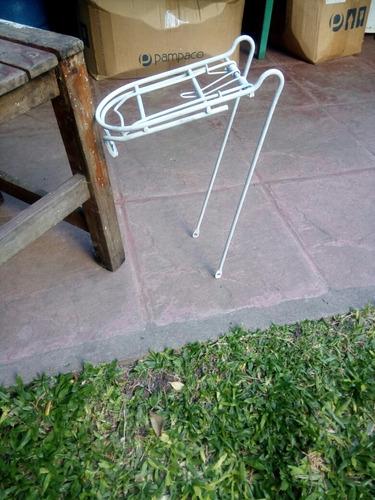 portapaquetes delanteto pata bicicleta plegable rodado 24
