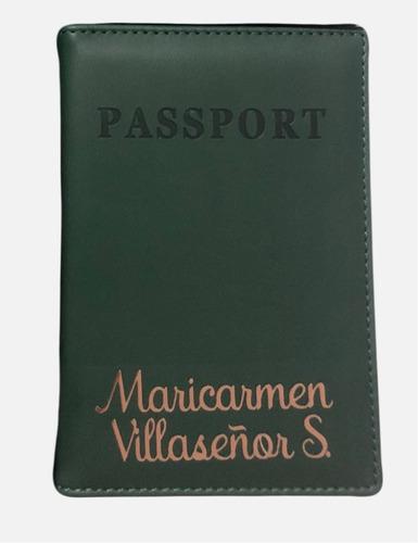 portapasaporte personalizado con tu nombre o iniciales