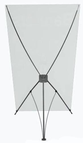 portapendon araña x, en fibra, robusto y plegable. 2x1mt.