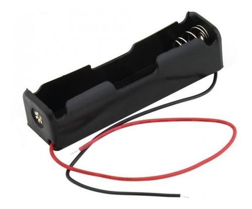 portapila 1 pila bateria 18650 salida cables arduino