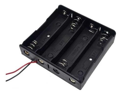portapila 4 pila bateria 18650 salida cables arduino