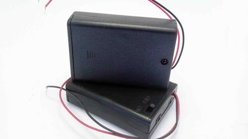 portapilas 3xaa con interrptor