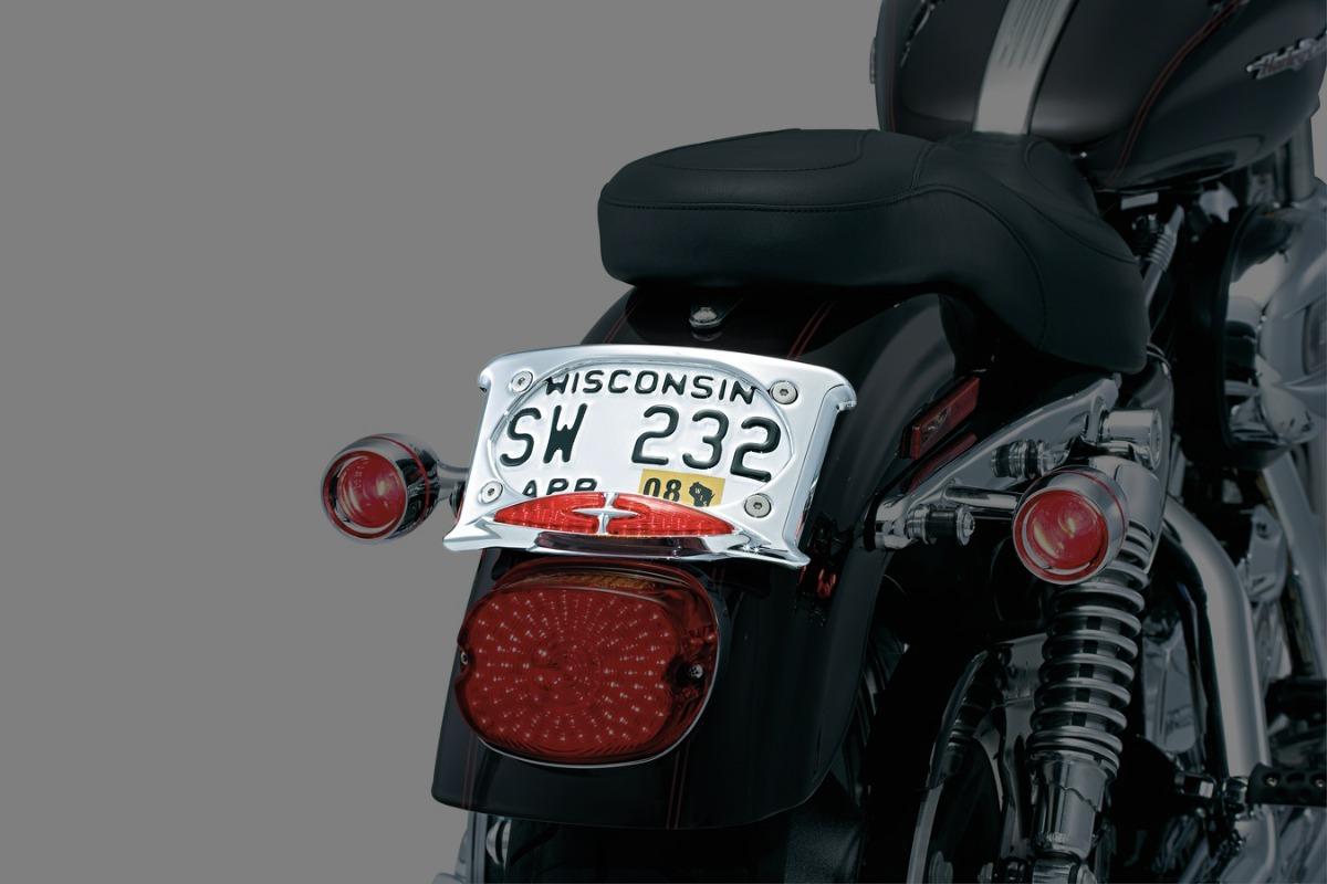 Portaplacas Con Luz L E D Para Harley Davidson & Honda Vtx ...