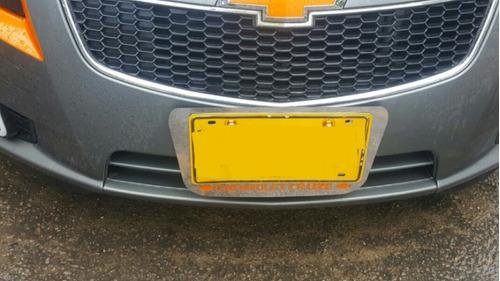 portaplacas de lujo en acero inoxidable para vehículos