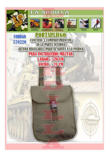 portapliego militar muslera - instruccion paintball ejercito